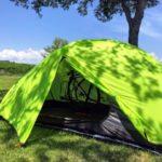 テント「Naturehike Mongar2」設営レビュー。室内空間が広く大量の荷物、自転車も入る!