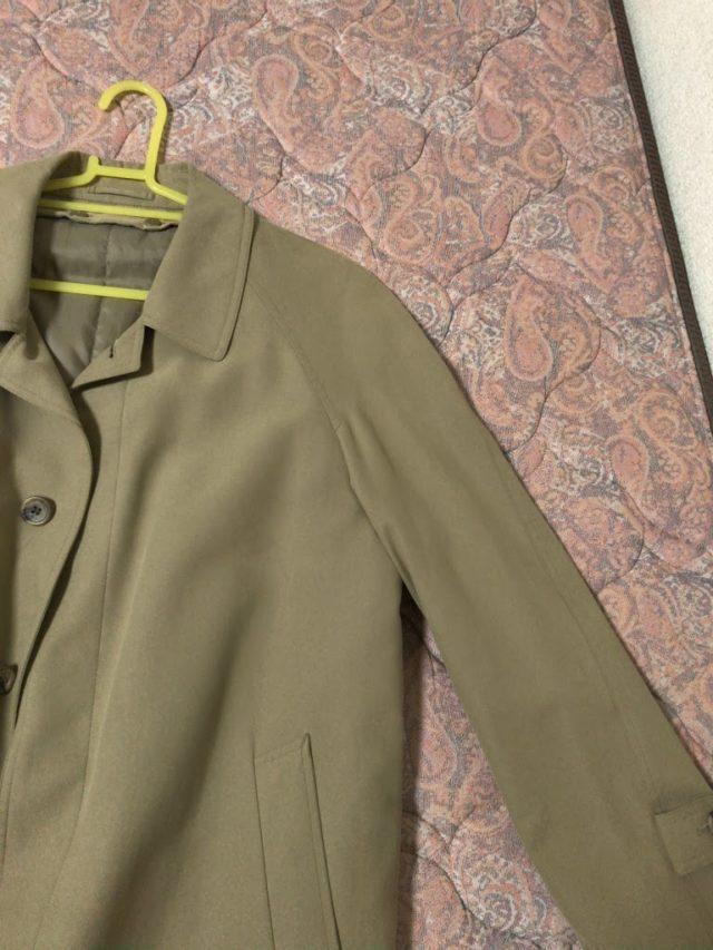 ラグラン袖のコート
