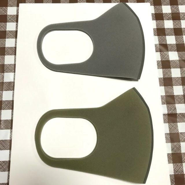 ピッタマスクの変色を比較した画像